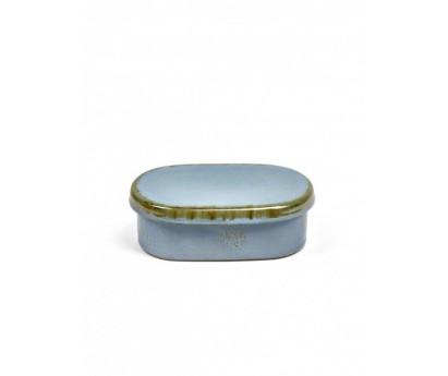BEURRIER OVALE TDR | 14.5cm x 8.5cm x H9.5cm | SMOKEY BLUE
