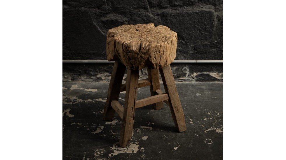 TABOURET ROND EN ORME ANCIEN - 37cm