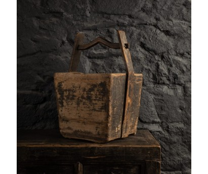 PANIER ANCIEN EN BOIS - 35cm