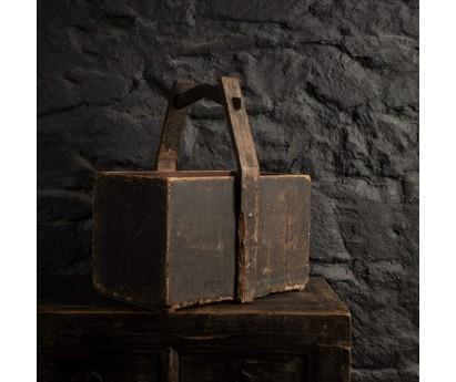 PANIER RECTANGLE ANCIEN EN BOIS - 45x33cm