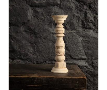 BOUGEOIR ANCIEN EN BOIS - 38cm