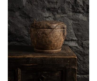 BOITE ALIMENTAIRE ANCIENNE   PIECE UNIQUE    Ø 20cm x H 25cm