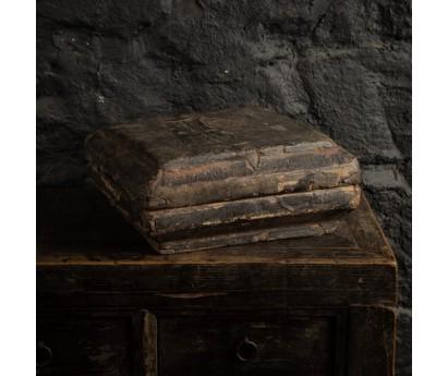 BOITE A SOIERIES   CHINE XIXème   36cm x 36cm x H20cm environ