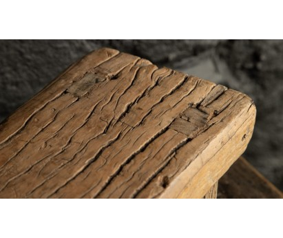 MINI TABOURET ÉCOLIER EN ORME ANCIEN