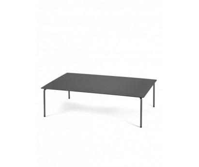 TABLE BASSE AUGUST   120cm x 80cm x H35cm   ALUMINIUM   NOIR