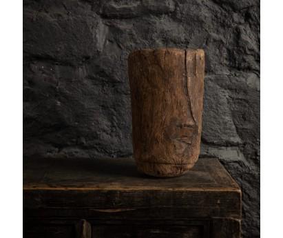 COUPE ANCIENNE EN BOIS MASSIF   MAURITANIE   Ø20cm x H 33cm