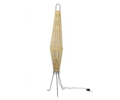 LAMPADAIRE NAASHA - ROTIN ET ACIER BRUT - NATUREL - 155cm