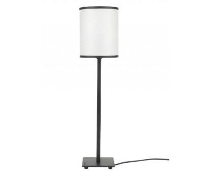 LAMPE A POSER LORY - ABAT-JOUR ROND BIAIS NOIR - 50cm