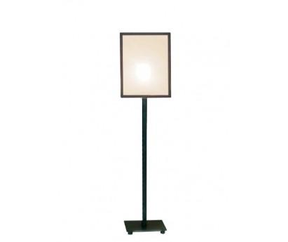 LAMPE A POSER TARA - ABAT-JOUR CARRE BIAIS NOIR - 50cm