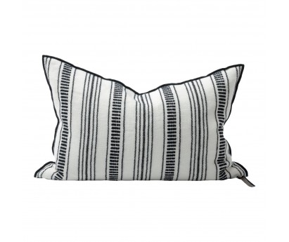 COUSSIN VICE VERSA | TOILE BRODEE CYCLADES 300 | 40cm x 60cm | RAYURE FINE | NOIRE
