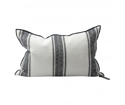 COUSSIN VICE VERSA | TOILE BRODEE CYCLADES 300 | 50cm x 70cm | RAYURE FINE | NOIRE
