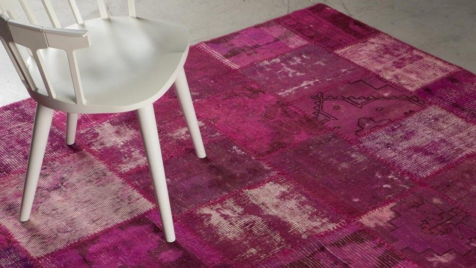 TAPIS PATCHWORK ROSE 3