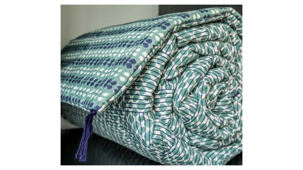 sofa cover neel bhoomi sauge coton caravane linge de maison. Black Bedroom Furniture Sets. Home Design Ideas