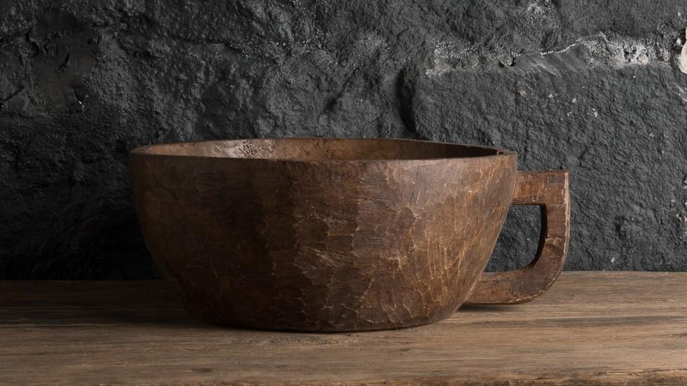 COUPE ANCIENNE EN BOIS - SULAWESI - 33cm