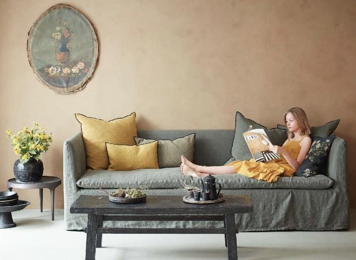 Canapé et coussins Maison de Vacances