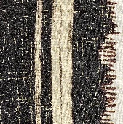 COUSSIN EN LIN TANGO - BEIGE/NOIR - 40x55cm