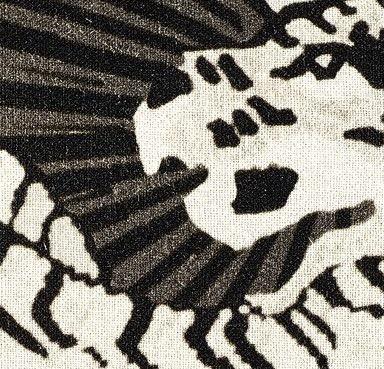 COUSSIN EN LIN MAGIC CIRCUS, IMPRESSION TIGRE - BLANC - 40x55CM