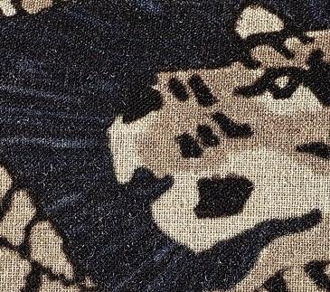 COUSSIN EN LIN MAGIC CIRCUS, IMPRESSION TIGRE - NOIR - 40x55CM