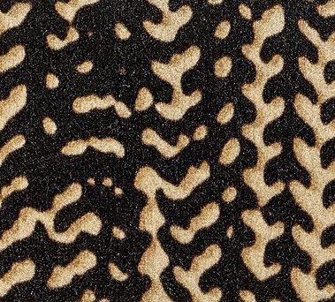 COUSSIN VELOURS COTON CHORUS noir, élitis 30x45 cm