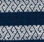COUSSIN CARAVANE LAO EN COTON INDIGO 3- 40x55 CM