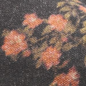 Coussin vice versa biais noir-lin imprimé- Wabi Sabi les roses spritz