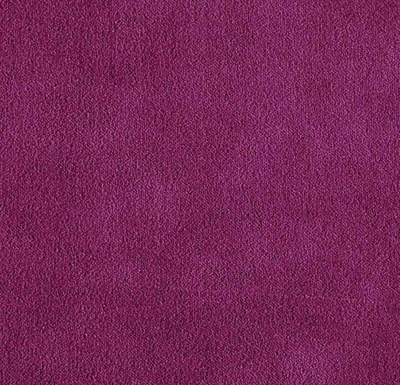 Coussin Aristote velours - finition sergé brodé contrasté- Géranium- 40x55cm