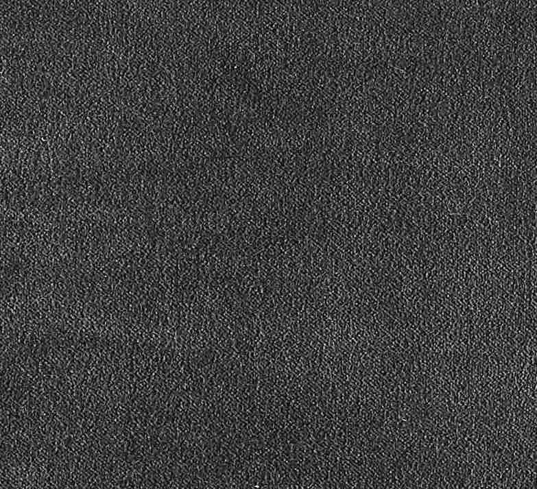 COUSSIN EN VELOURS ARISTOTE - finition sergé brodé contrasté - Goudron - 40x55CM