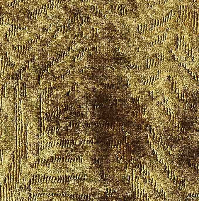 Coussin Ibiza- velours tissé jacquard- gold