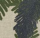 COUSSIN LIN BRODE MONA - TROPICAL VERT - 40x55cm