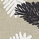 COUSSIN LIN BRODE MONA - BLACK & WHITE - 40x55cm