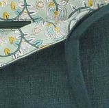 Pochette kilim en toile de Jute, coloris cyprès