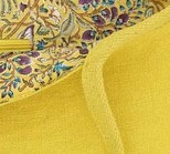 Pochette kilim en toile de Jute, coloris MIMOSA