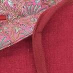 Pochette kilim en toile de Jute, coloris framboise