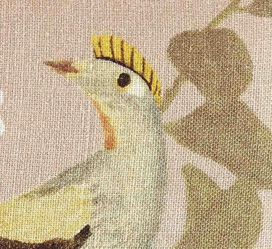COUSSIN EN LIN L'OISEAU - SWEET PINK - 40x55cm