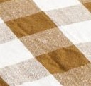 LINGE DE TABLE - TOILE MIMI VICHY - LIN/COTON - EPICES/NOIR