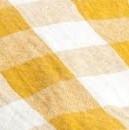 NAPPE TOILE MIMI VICHY - LIN/COTON - OCRE/NOIR