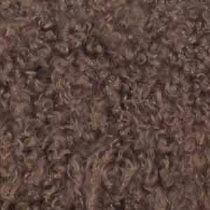COUSSIN À POILS LONGS - TAUPE - 45x30CM